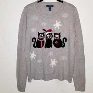 Cats Ugly Christmas Sweater | Karen Scott